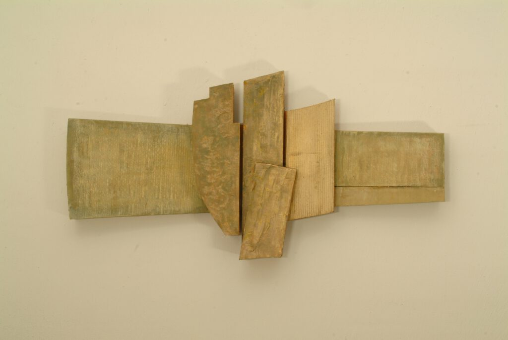 Poiesis e Praxis ,2005 Karton, Acryl 75x153x16 cm